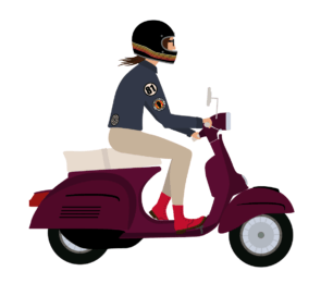 Scootergirl Vespa Illustration